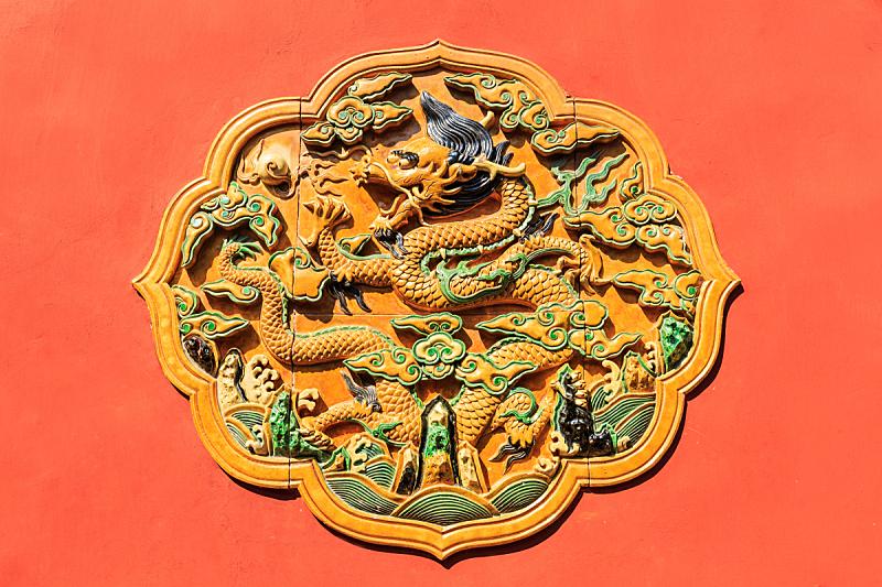 故宫,龙,过去,雕刻物,图腾柱,北京,纪念碑,灵性,古老的,国际著名景点