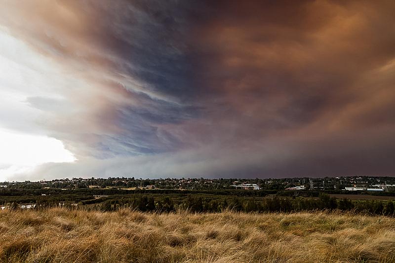 森林火灾,郊区,云,悉尼,在上面,天空,公园,水平画幅,山,户外