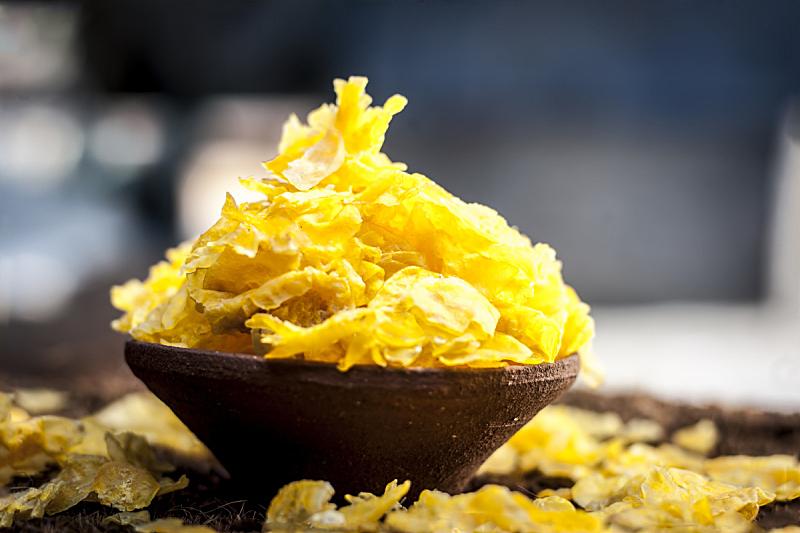 玉米片,甜玉米,早餐,清新,水平画幅,无人,查谟和克什米尔,早晨,玉米,特写