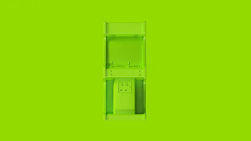 拱廊,绿色,有序,计算机,背景分离,技术,简单,英国,色彩鲜艳,古典式
