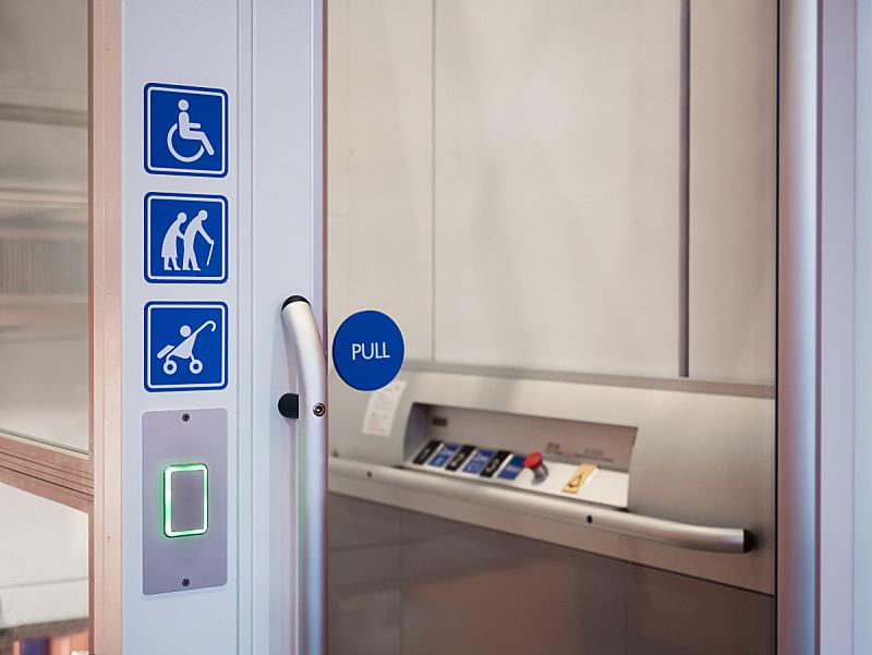 电梯,楼梯,全球通讯,肢体缺损,残疾人登机牌,地下通道,残障者标志,轻轻浮起,按钮,设计
