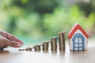 风险,房地产,房屋,概念,手,储蓄,抵押文件,金融,叠,购买