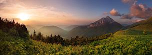 风景,天空,水平画幅,山,无人,夏天,户外,草,瑞士阿尔卑斯山,彩色图片