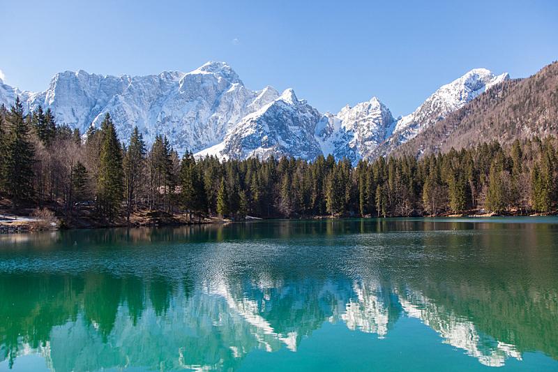 湖,阿尔卑斯山脉,自然,水,天空,美,水平画幅,绿色,地形,无人