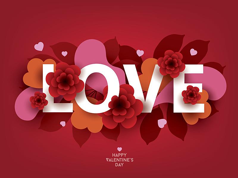 抽象,雕刻图像,化学元素周期表,情人节,字体,浪漫,心型,背景,节日,绘画插图