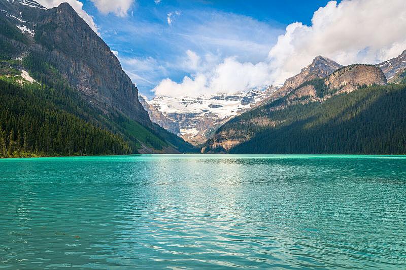 加拿大,自然,班夫,水平画幅,地形,冰河,阿尔伯塔省,夏天,户外,湖