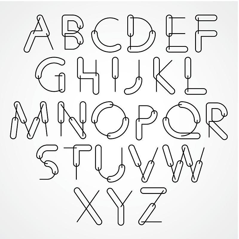 字母,奇异的,矢量,字体,英文字母f,英文字母d,英文字母b,英文字母c,英文字母g,英文字母e