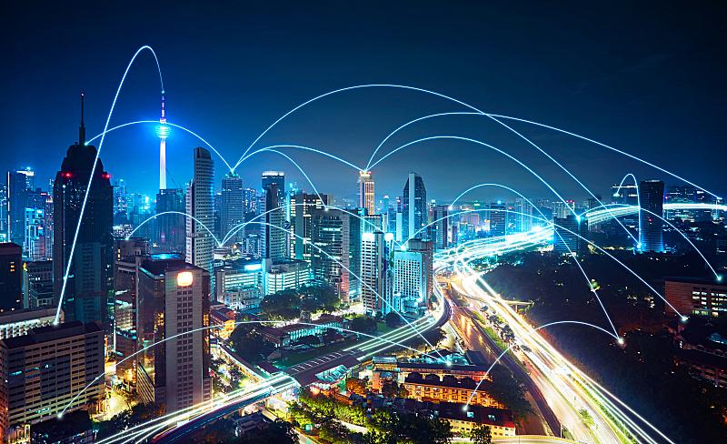 都市风景,现代,网线插头,概念,吉隆坡塔,无线技术,马来西亚,城市,吉隆坡,技术