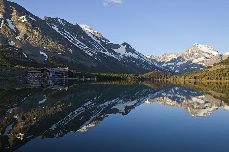 斯威夫特卡伦特湖,谢布恩湖,首席山,鸭湖,圣玛利湖,朝阳大道,美国冰河国际公园,蒙大拿州,水平画幅