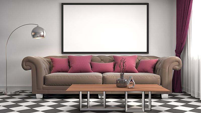 三维图形,边框,绘画插图,轻蔑的,背景聚焦,住宅房间,式样,水平画幅,形状