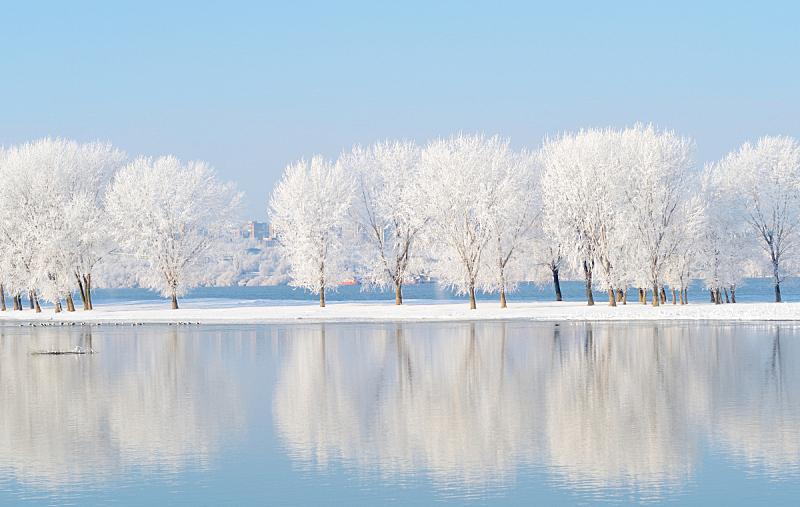 地形,冬天,水,自然美,一月,冻结的,湖,风景,冰,雪