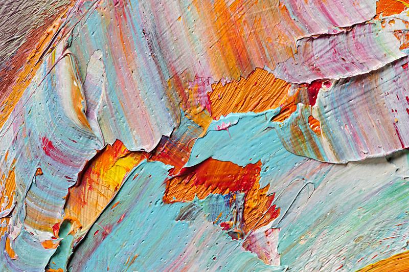 大特写,画布,绿松石色,色彩鲜艳,橙色,明亮,调色板