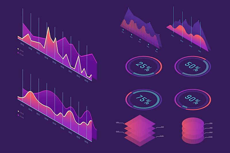 矢量,商务,图表,信息图表,金字塔形,数字,数据,多色的,设计,演说