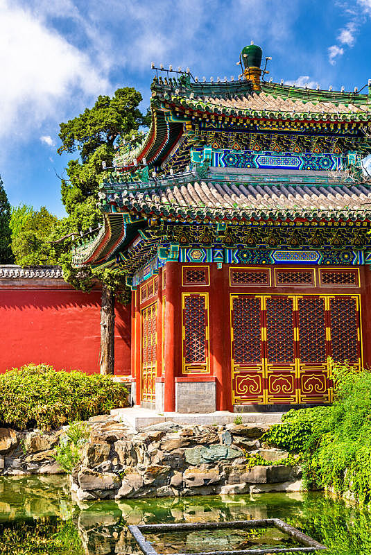 北海公园,亭台楼阁,北京,北海湖,禁止的,明朝风格,纪念碑,天空,公园,古老的