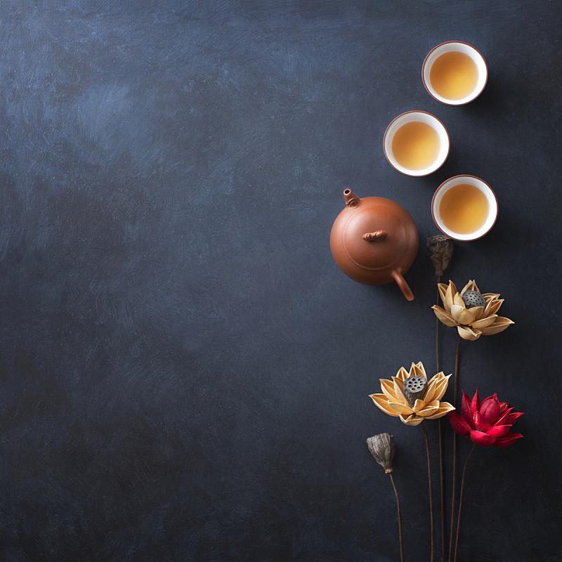茶,饮食,东方人,偏好,中秋节,彩色背景,图像,中国食品,茶杯,小吃