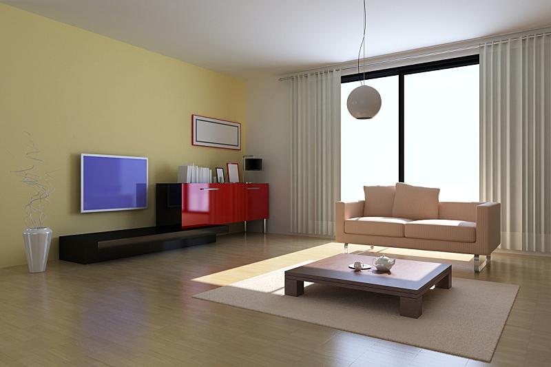 现代,起居室,座位,水平画幅,形状,无人,硬木地板,地毯,灯,家具