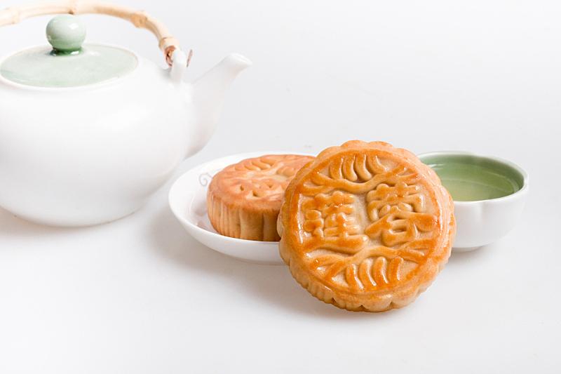 水平画幅,无人,传统,小吃,影棚拍摄,茶,传统节日,月饼,亚洲