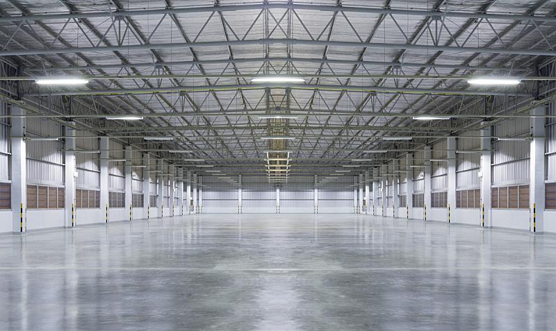 工厂,混凝土,闪亮的,地板,仓库,车库,工业,水泥,室内,建筑业