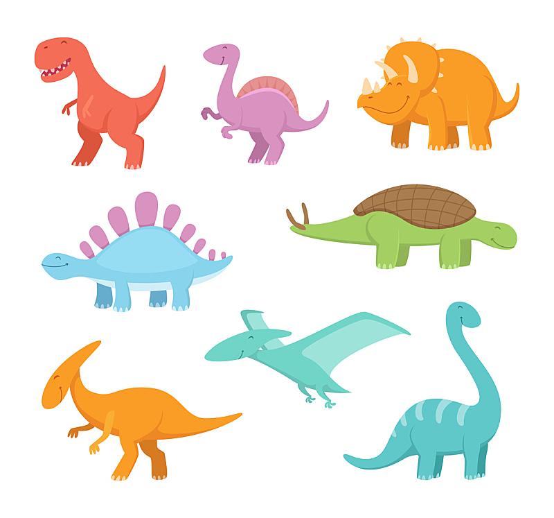 卡通,恐龙,矢量,幽默,风格,绘画艺术品,史前时代,绘画插图,力克斯兔,巨大的