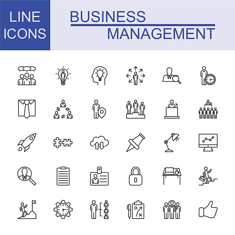 商务,线条,全球通讯,图标集,领导能力,绘画插图,税,经理,税表,技术