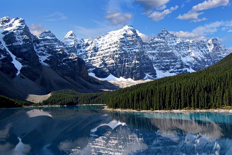 十峰谷,国内著名景点,班夫,环境,雪,公园,加拿大,湖,松树,绿松石色