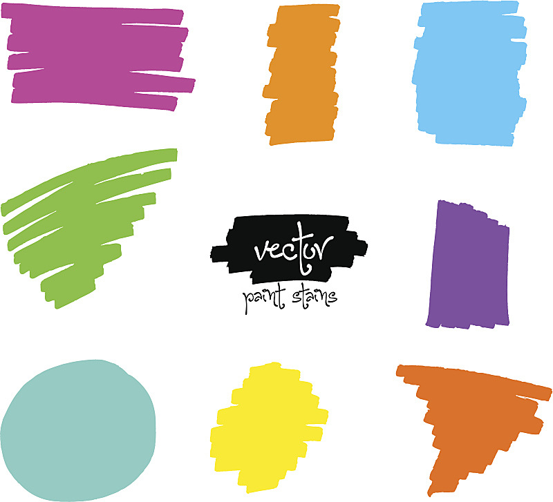 毡尖笔,矢量,笔触,彩虹,肖像,模板,背景,绘画插图,收集,涂抹