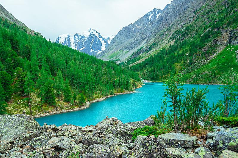 湖,背景,山脉,自然,非凡的,灌木,宏伟,山,绿色,地形