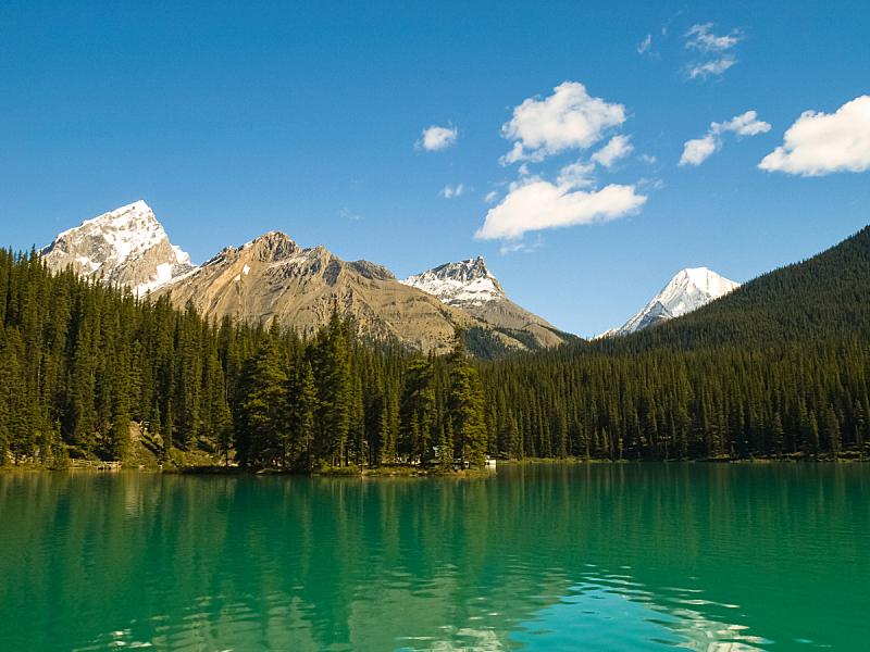 干净,湖,自然,山脉,加拿大,天空,水平画幅,云,阿尔伯塔省,夏天