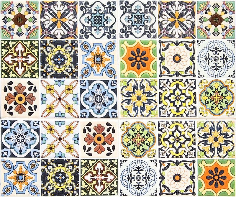 瓷砖,墙,背景,多色的,土耳其,褐色,式样,艺术,水平画幅,纺织品