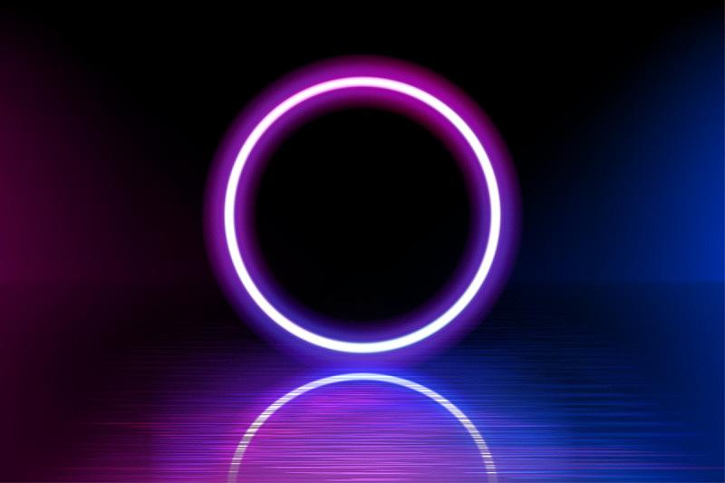 暗色,矢量,背景,霓虹灯,阳光光束,蓝色,线条,圆形,反射,遗忘