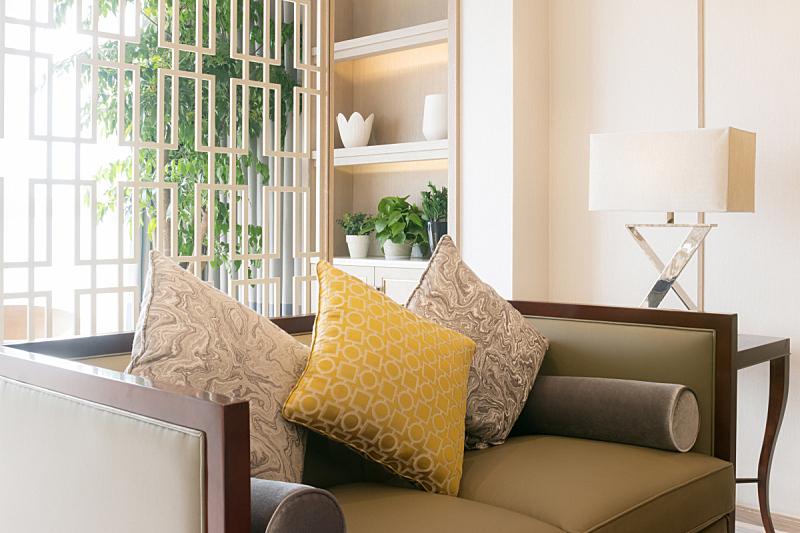 室内,华贵,起居室,水平画幅,无人,椅子,灯,家具,居住区,现代