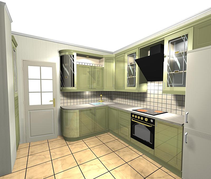 三维图形,绿色,厨房,简单,檐口,水平画幅,墙,无人,抽油烟机,玻璃