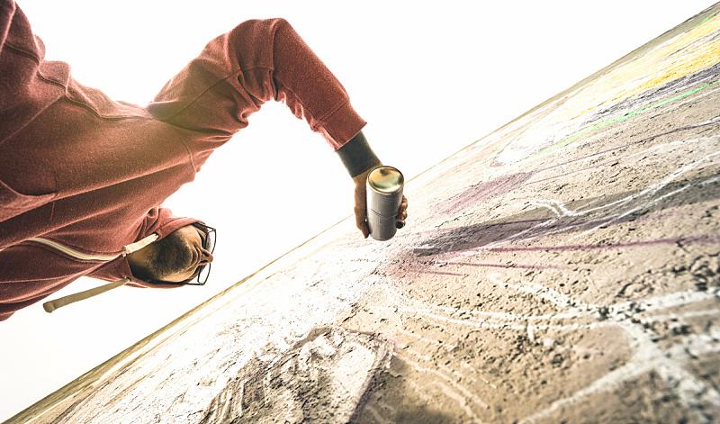 喷雾罐,街头艺术家,彩色图片,概念,城市生活,不明确的地点,40-80年代风格复兴,喷