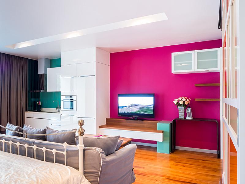 家具,卧室,室内,极简构图,水平画幅,无人,硬木地板,古典式,家庭生活,现代