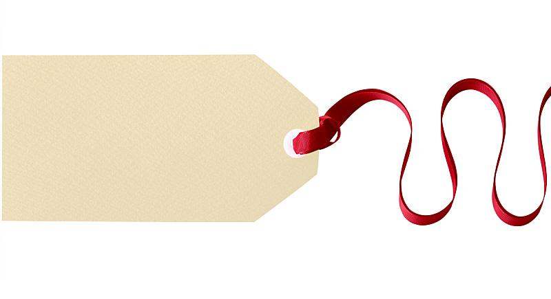 礼物标签,白色背景,简单,分离着色,艾滋病警示丝带,空白的,留白,水平画幅,无人,标签
