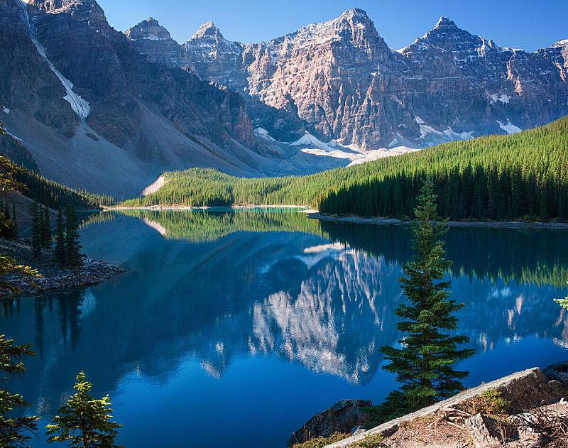 阿尔伯塔省,班夫,梦莲湖,自然,水,公园,水平画幅,云,无人,户外