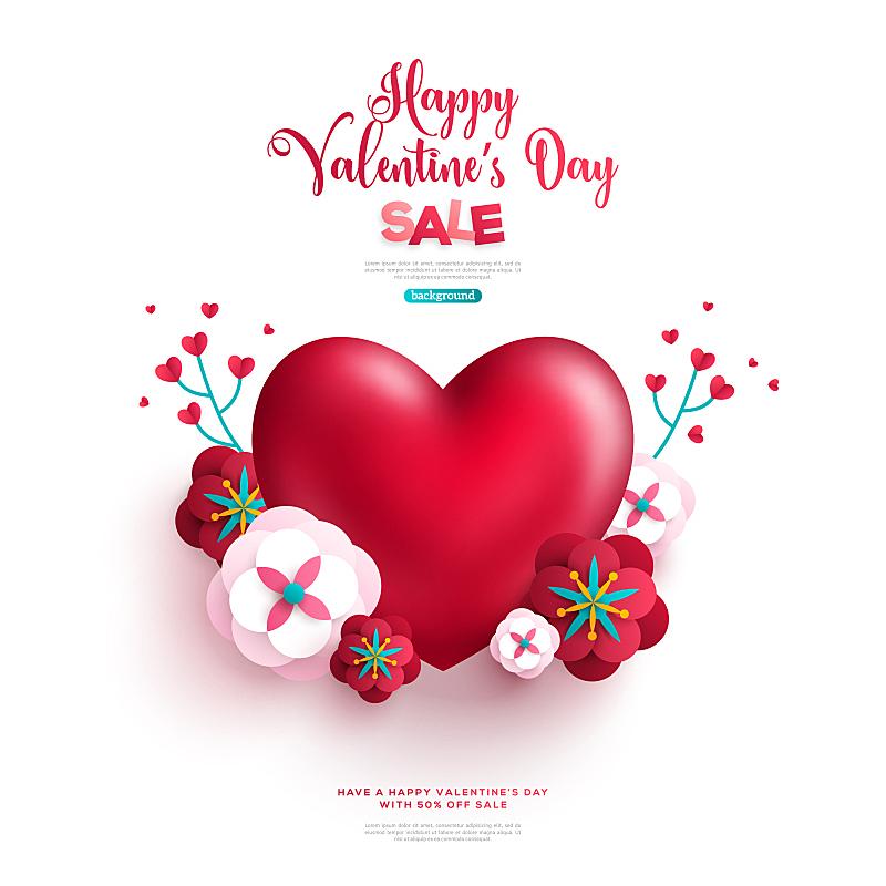 红色,心型,枝,花束,纸,贺卡,艺术,情人节,绘画插图,古典式