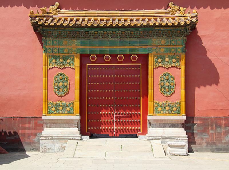 巨大的,中华门,故宫,美,外立面,水平画幅,墙,无人,美人,古老的