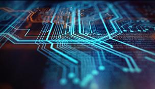 技术,橙色,蓝色,背景聚焦,母板,超文本链接标示语言,电路板,电脑芯片,有线的,网络服务器