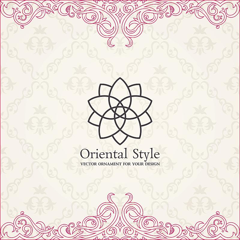 Background invitation vintage label. floral frame