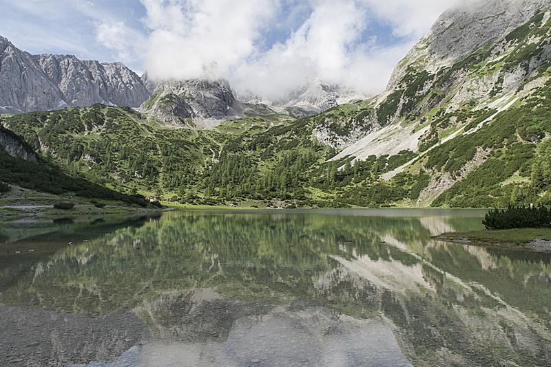水,自然,水平画幅,无人,户外,湖,徒步旅行,山,埃尔瓦尔德,鲉