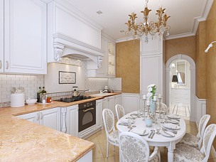 厨房,餐桌,风格,普罗旺斯,个人随身用品,餐具,水平画幅,纺织品,无人,椅子