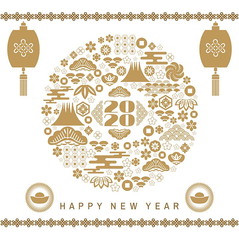 2020,幸福,春节,日历,贺卡,灯笼,中国灯笼,模板,动物,梅花