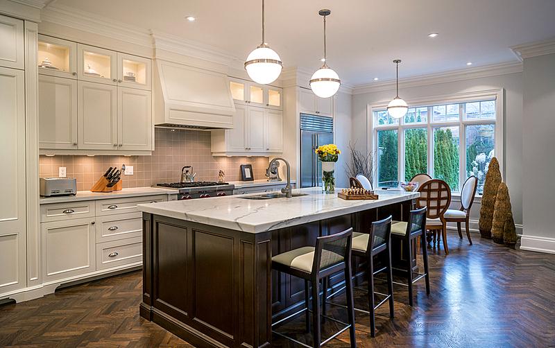 厨房,华贵,柜子,独立灶台,多士炉,电动搅拌器,硬木地板,居住区,都市风景,现代