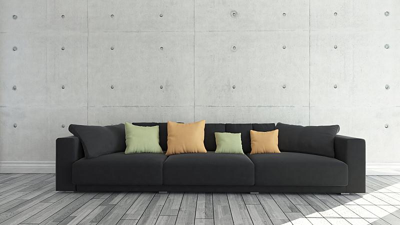 纺织品,模板,沙发,设计师,背景,黑色,混凝土墙,座位,家具