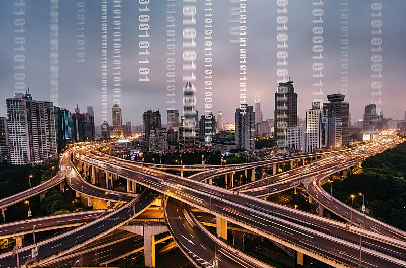 城市,交通,数字化显示,夜晚,城市扩张,计算机软件,计算机语言,全球通讯,地球形,全球商务