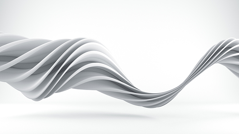 白色,三维图形,螺线,未来,水平画幅,形状,银色,绘画插图,错觉,几何形状