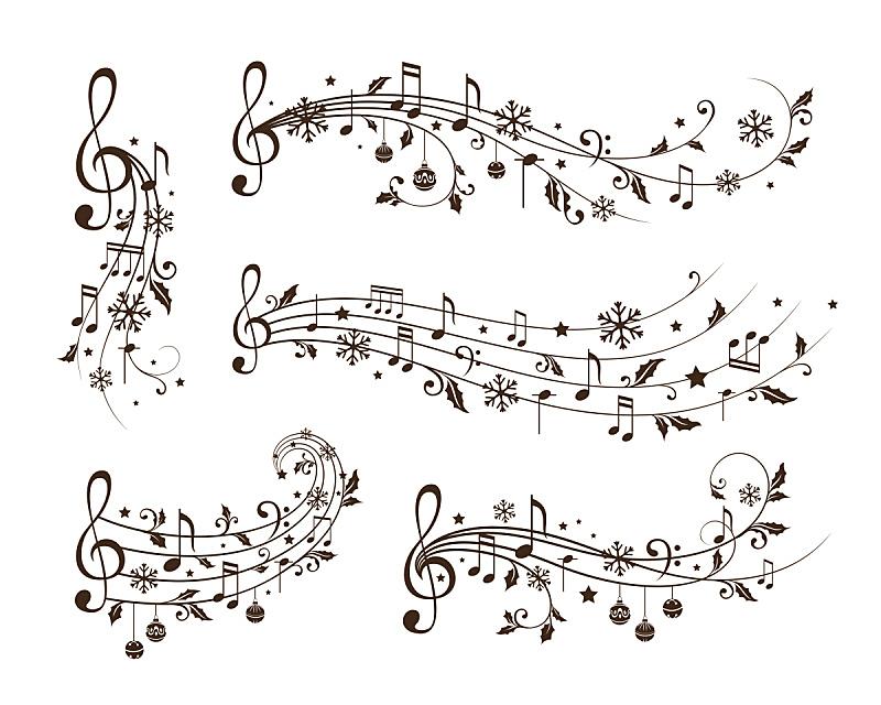 音乐,分线规,四元素,水平画幅,无人,绘画插图,传统,交响乐团,音符