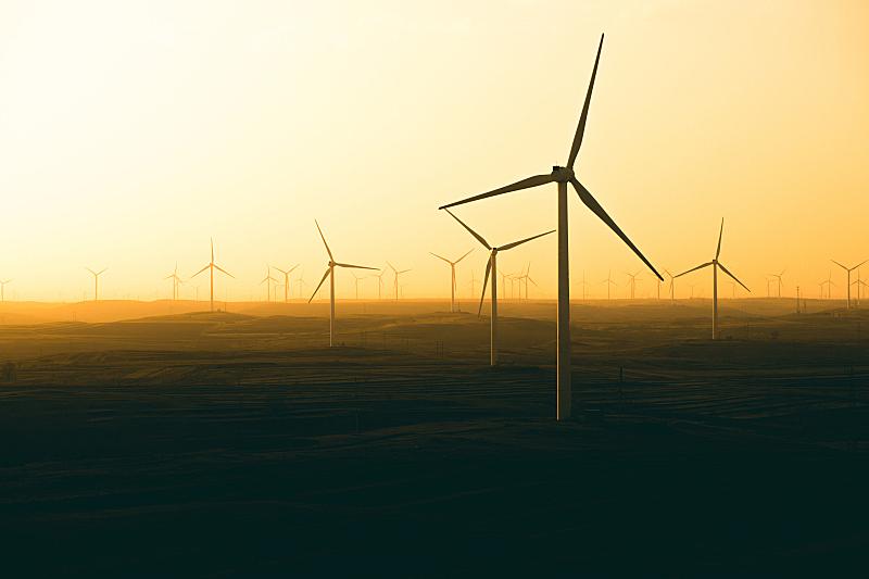 风轮机,风,水平画幅,风力,能源,无人,涡轮,户外,干净,山