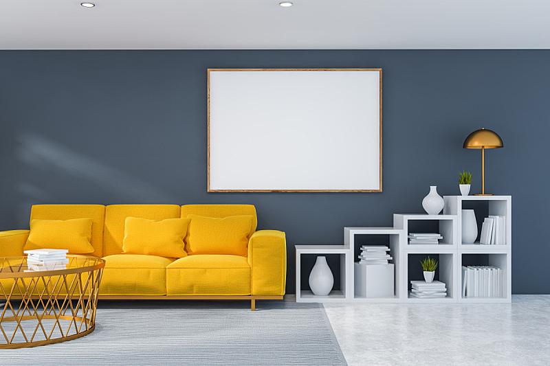 灰色,沙发,起居室,室内,三维图形,平坦的,新的,家庭生活,技术